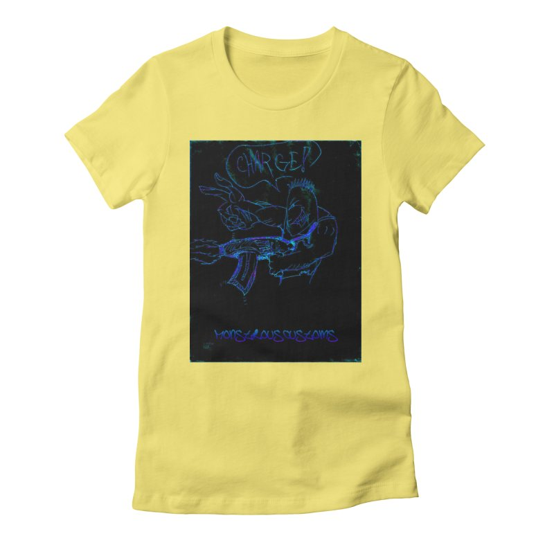 Alien Foot Soldier2 Women's Fitted T-Shirt by Monstrous Customs