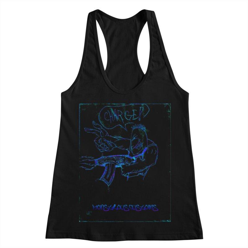 Alien Foot Soldier2 Women's Racerback Tank by Monstrous Customs