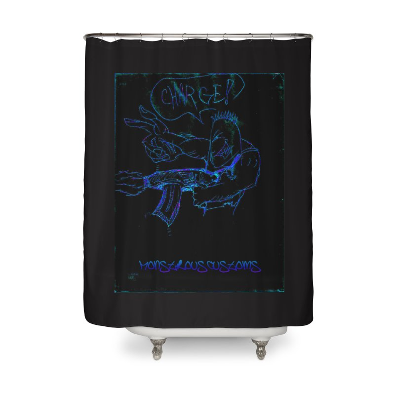 Alien Foot Soldier2 Home Shower Curtain by Monstrous Customs