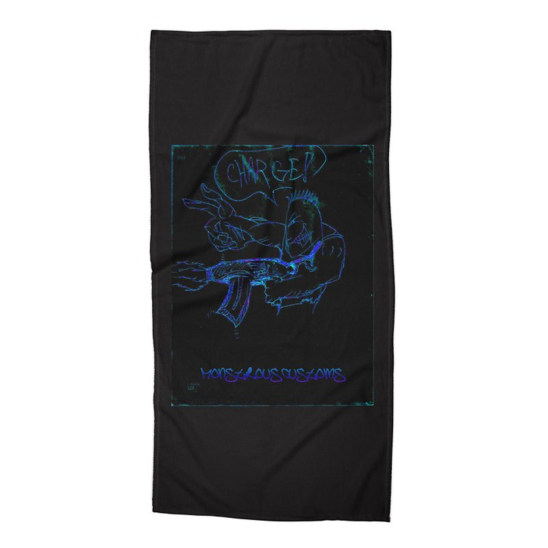 Alien Foot Soldier2 Accessories Beach Towel by Monstrous Customs
