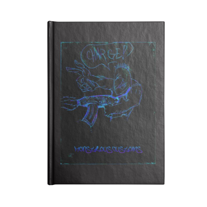 Alien Foot Soldier2 Accessories Lined Journal Notebook by Monstrous Customs