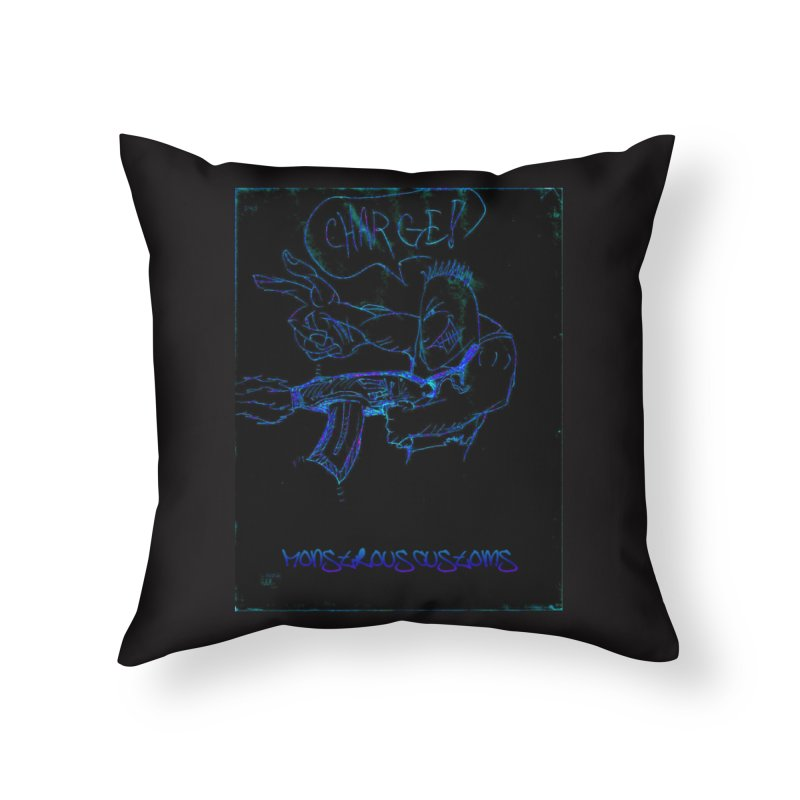 Alien Foot Soldier2 Home Throw Pillow by Monstrous Customs