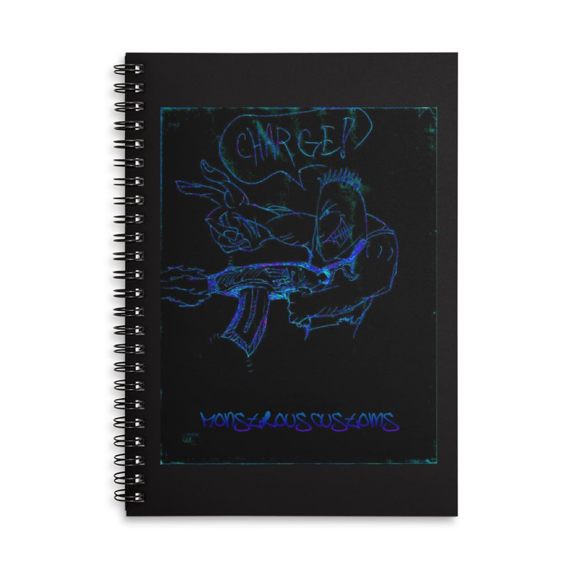 Alien Foot Soldier2 Accessories Lined Spiral Notebook by Monstrous Customs