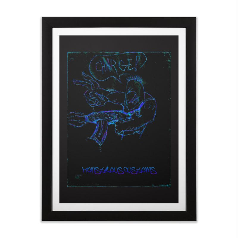 Alien Foot Soldier2 Home Framed Fine Art Print by Monstrous Customs