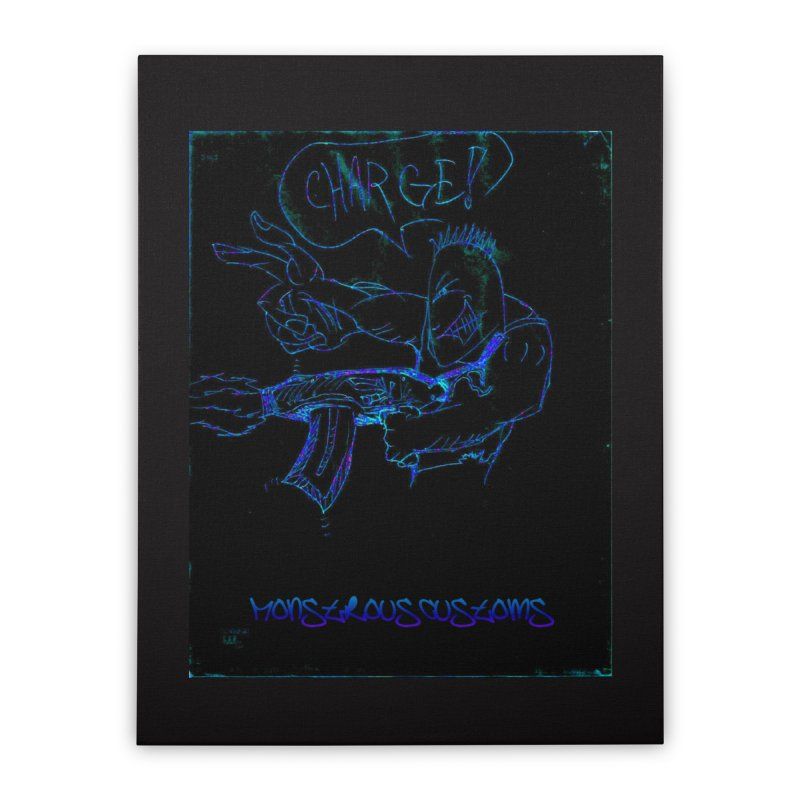 Alien Foot Soldier2 Home Stretched Canvas by Monstrous Customs