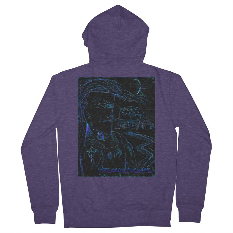 Misfits Maniac2 Men's French Terry Zip-Up Hoody by Monstrous Customs