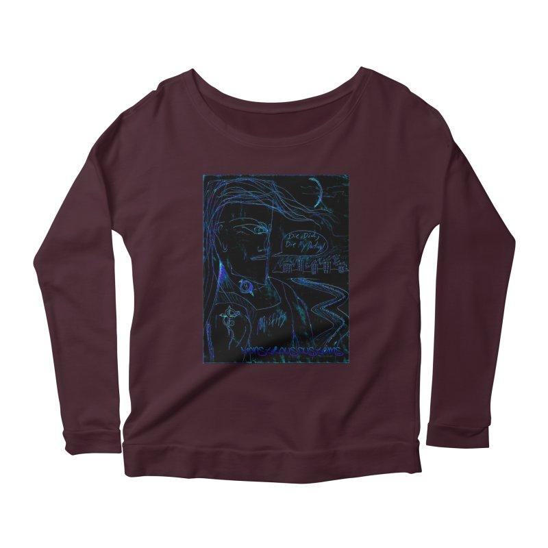 Misfits Maniac2 Women's Scoop Neck Longsleeve T-Shirt by Monstrous Customs