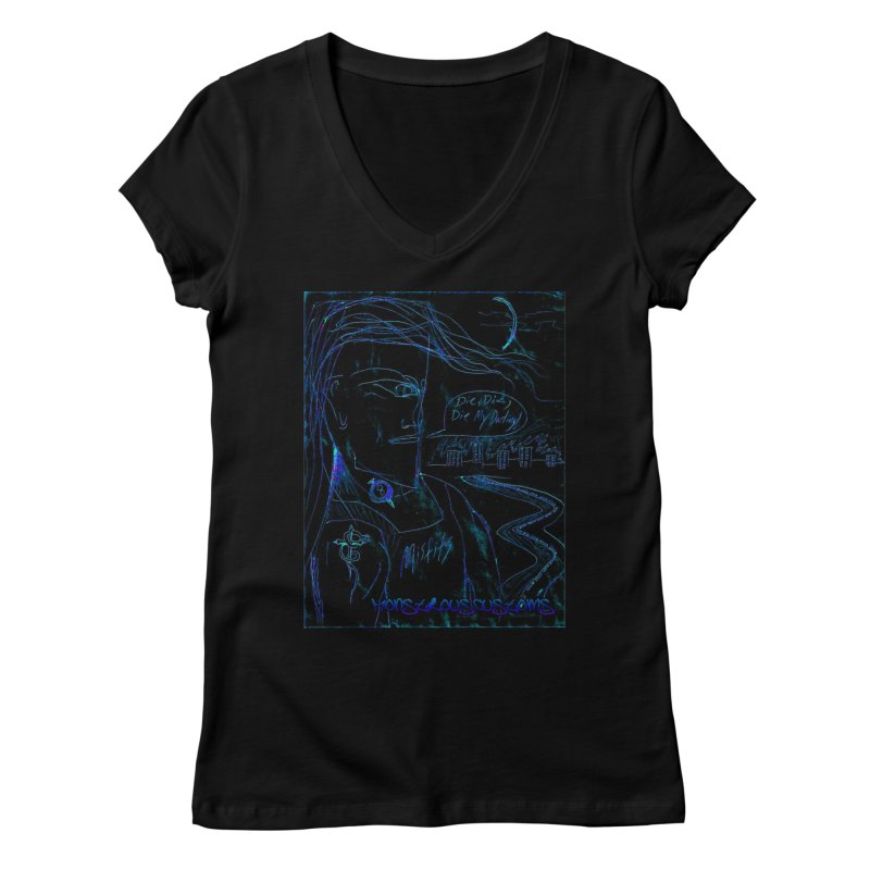Misfits Maniac2 Women's V-Neck by Monstrous Customs