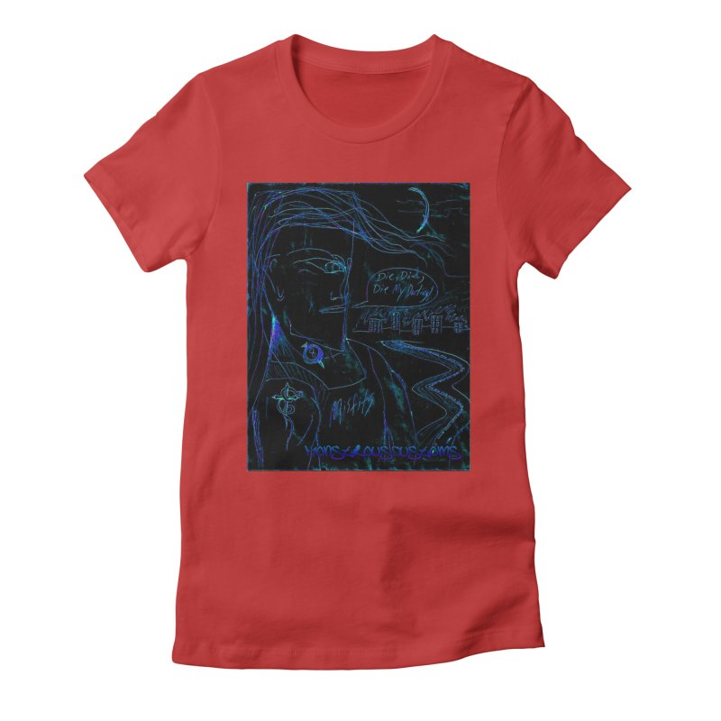 Misfits Maniac2 Women's Fitted T-Shirt by Monstrous Customs