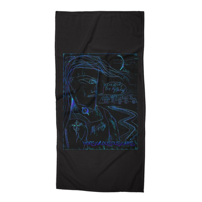 Misfits Maniac2 Accessories Beach Towel by Monstrous Customs