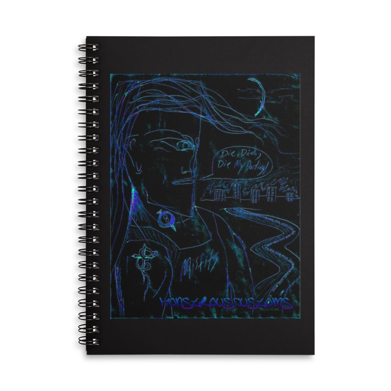 Misfits Maniac2 Accessories Lined Spiral Notebook by Monstrous Customs