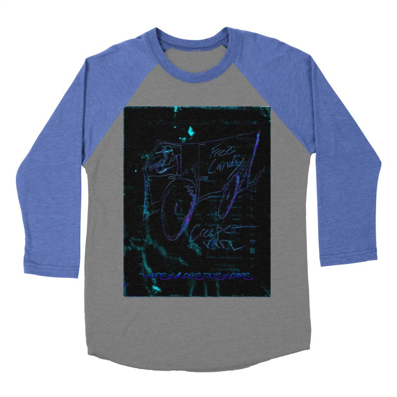 The Creeper2 Women's Baseball Triblend Longsleeve T-Shirt by Monstrous Customs