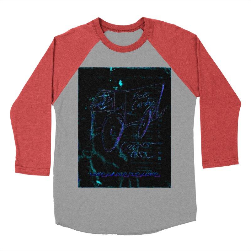 The Creeper2 Men's Baseball Triblend Longsleeve T-Shirt by Monstrous Customs