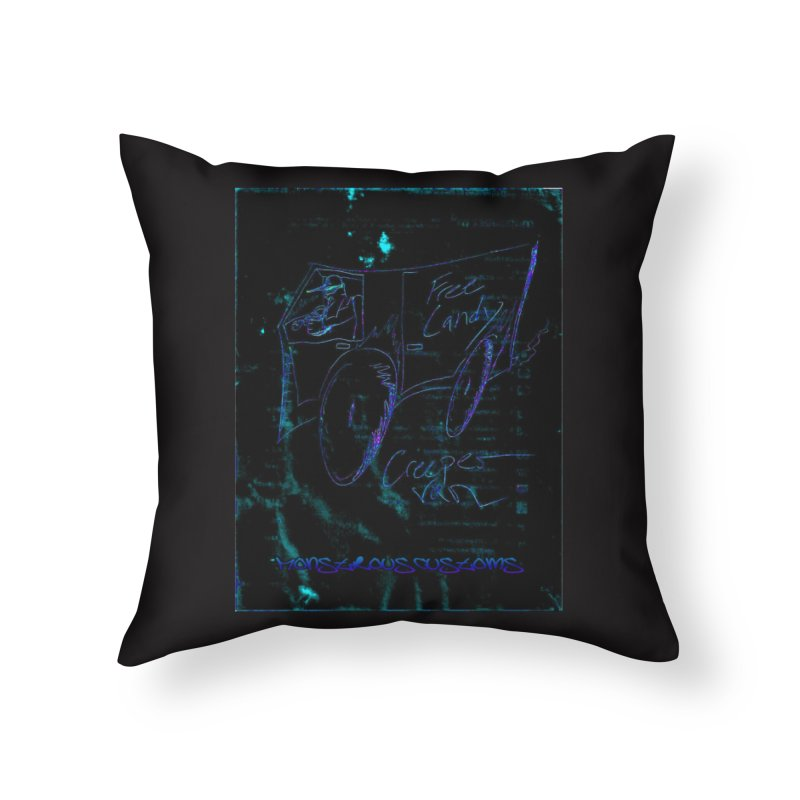 The Creeper2 Home Throw Pillow by Monstrous Customs