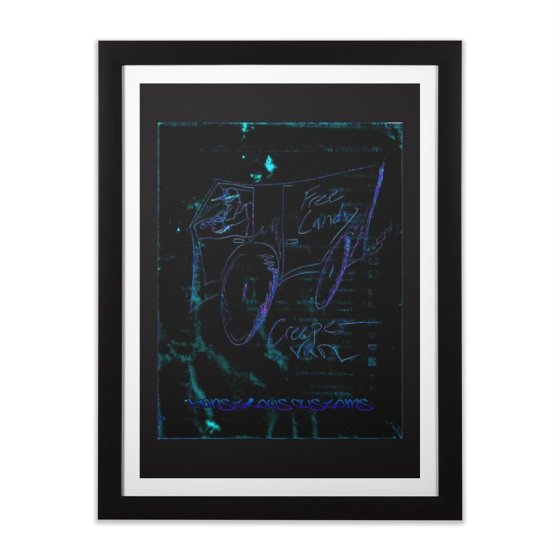 The Creeper2 Home Framed Fine Art Print by Monstrous Customs