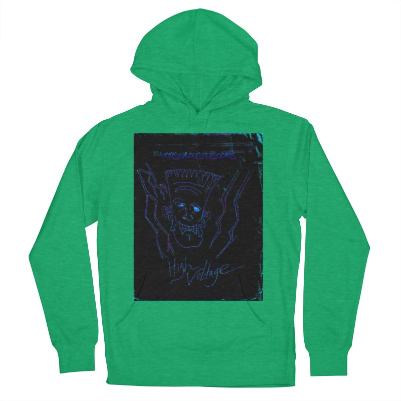 High Voltage Frank2 Women's French Terry Pullover Hoody by Monstrous Customs