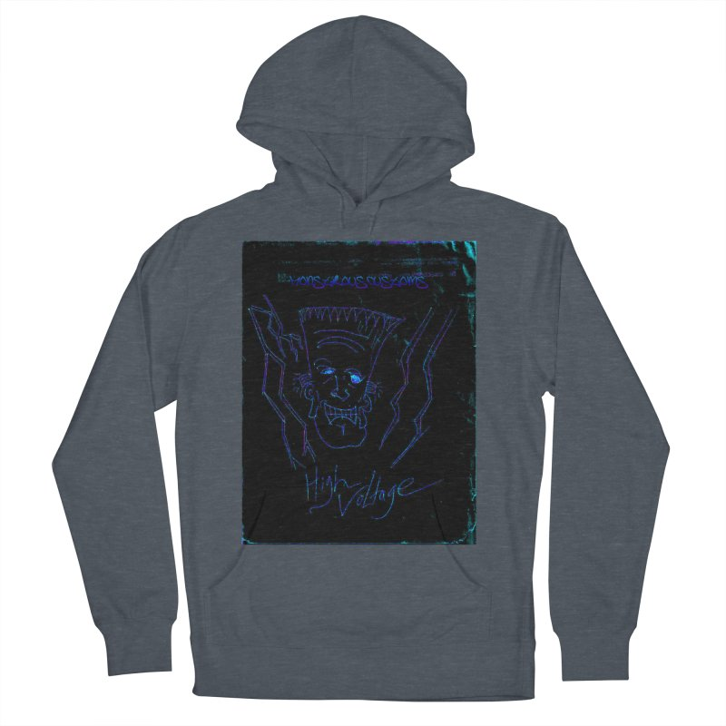 High Voltage Frank2 Men's French Terry Pullover Hoody by Monstrous Customs