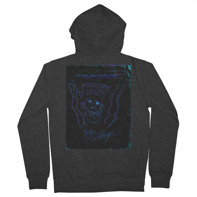 High Voltage Frank2 Women's Zip-Up Hoody by Monstrous Customs
