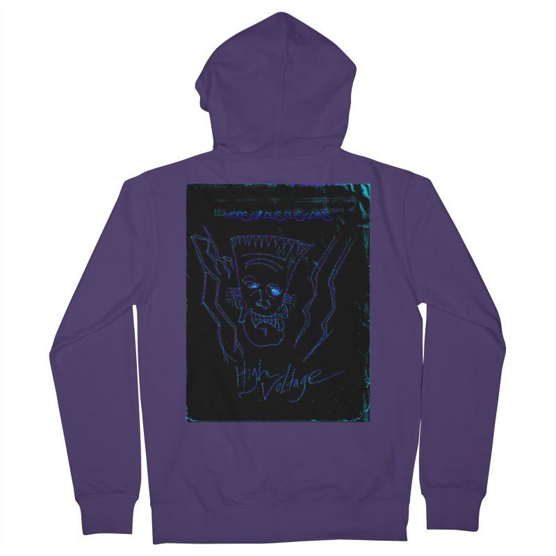 High Voltage Frank2 Women's French Terry Zip-Up Hoody by Monstrous Customs