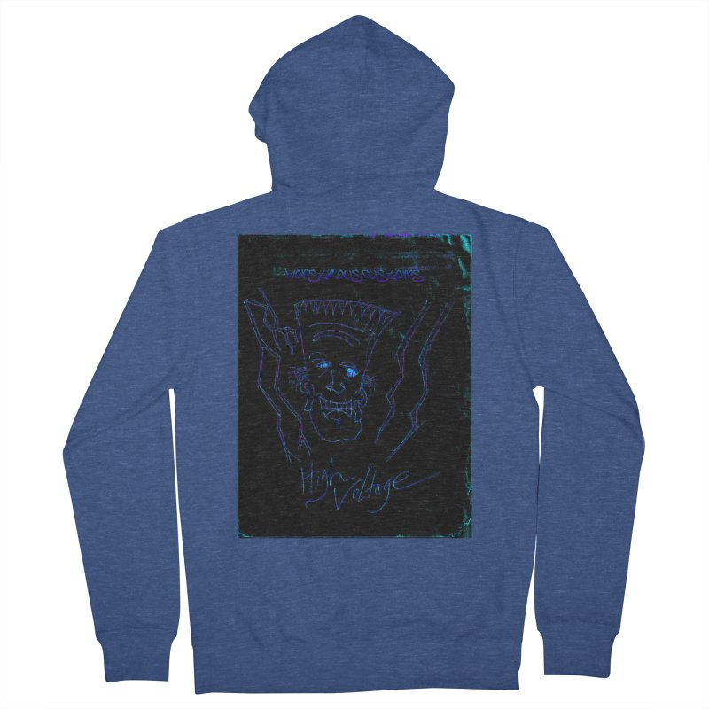 High Voltage Frank2 Men's French Terry Zip-Up Hoody by Monstrous Customs