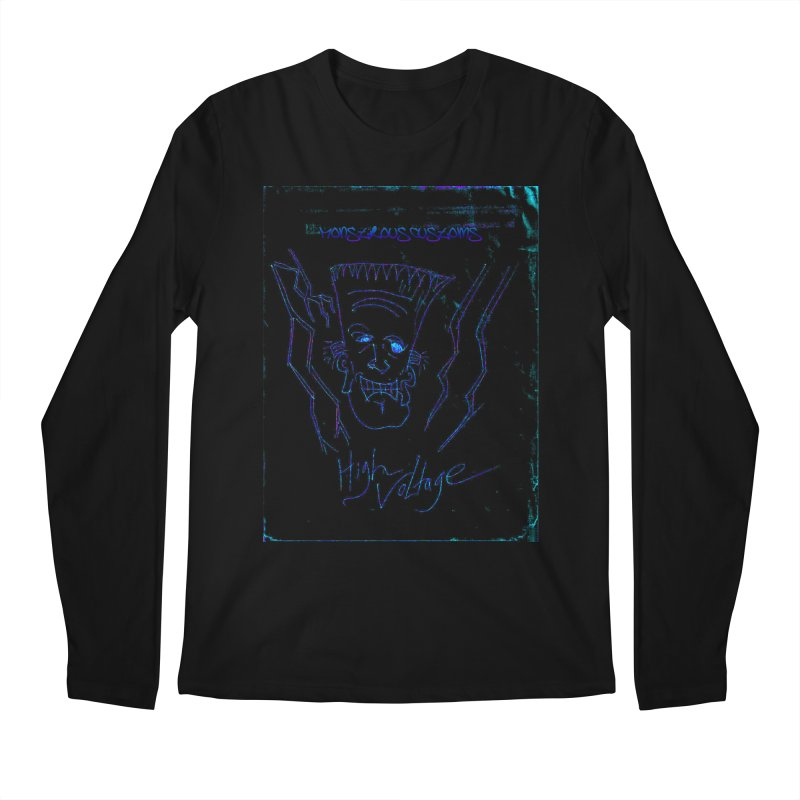 High Voltage Frank2 Men's Longsleeve T-Shirt by Monstrous Customs