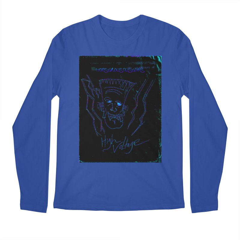 High Voltage Frank2 Men's Regular Longsleeve T-Shirt by Monstrous Customs