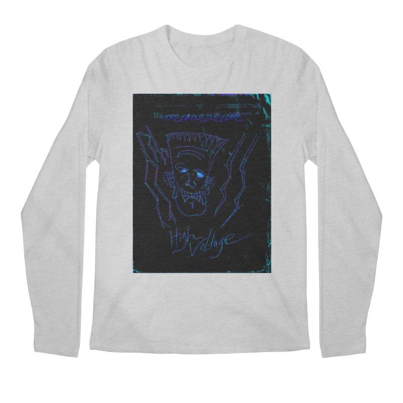 High Voltage Frank2 Men's Regular Longsleeve T-Shirt by Monstrous Customs