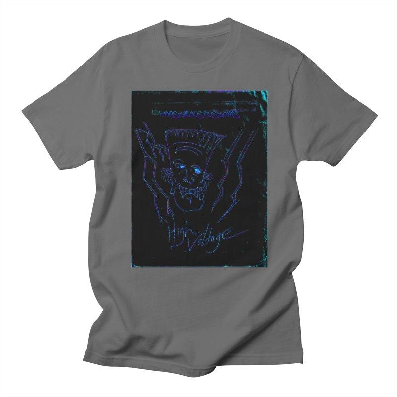 High Voltage Frank2 Men's T-Shirt by Monstrous Customs