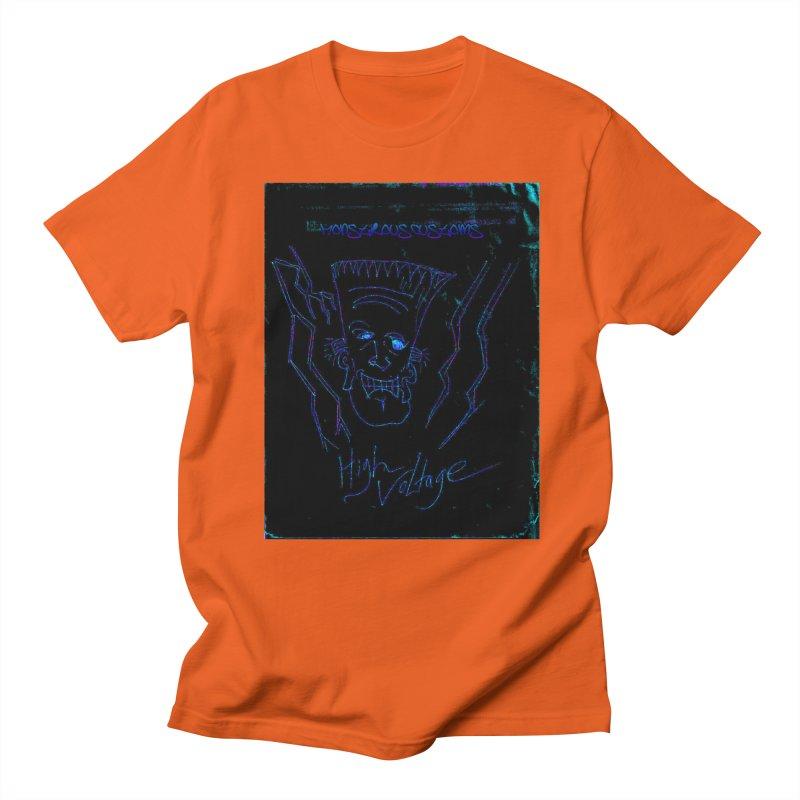 High Voltage Frank2 Men's Regular T-Shirt by Monstrous Customs