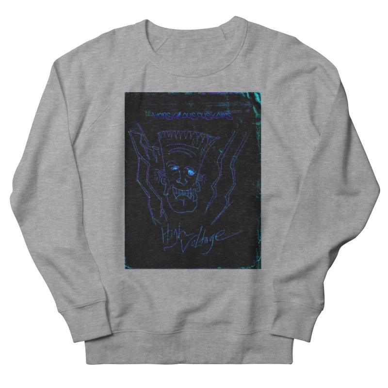 High Voltage Frank2 Women's French Terry Sweatshirt by Monstrous Customs