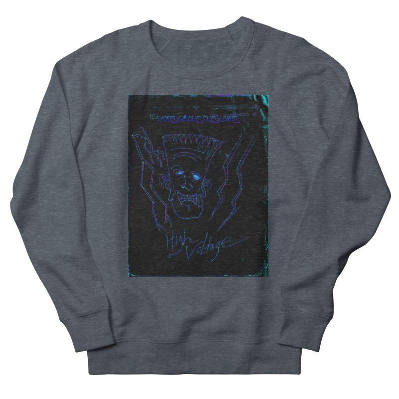 High Voltage Frank2 Men's French Terry Sweatshirt by Monstrous Customs