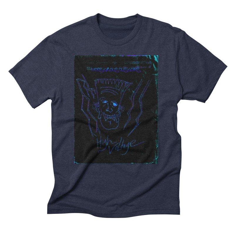 High Voltage Frank2 Men's Triblend T-Shirt by Monstrous Customs