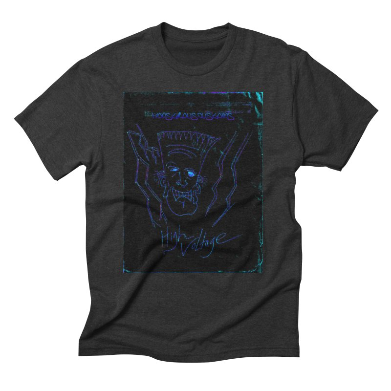 High Voltage Frank2 Men's Triblend T-Shirt by Monstrous Customs