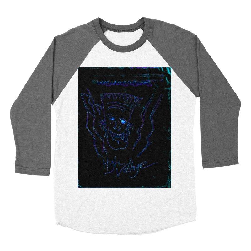 High Voltage Frank2 Women's Baseball Triblend T-Shirt by Monstrous Customs