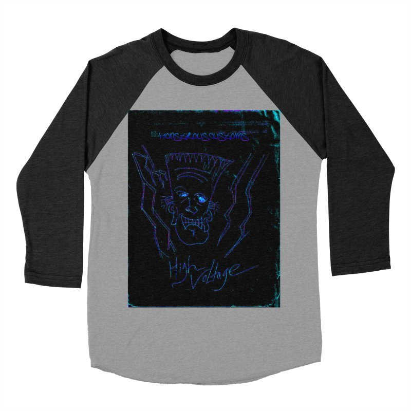 High Voltage Frank2 Women's Baseball Triblend Longsleeve T-Shirt by Monstrous Customs