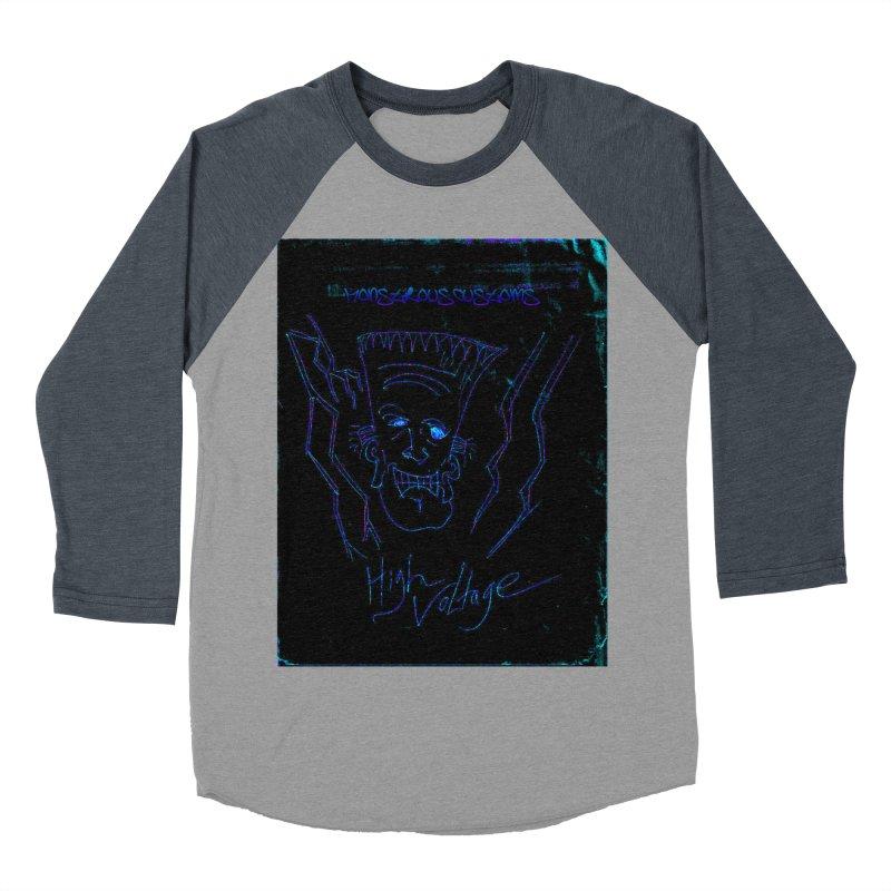 High Voltage Frank2 Women's Baseball Triblend Longsleeve T-Shirt by Monstrous Customs