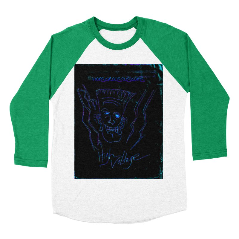 High Voltage Frank2 Men's Baseball Triblend T-Shirt by Monstrous Customs