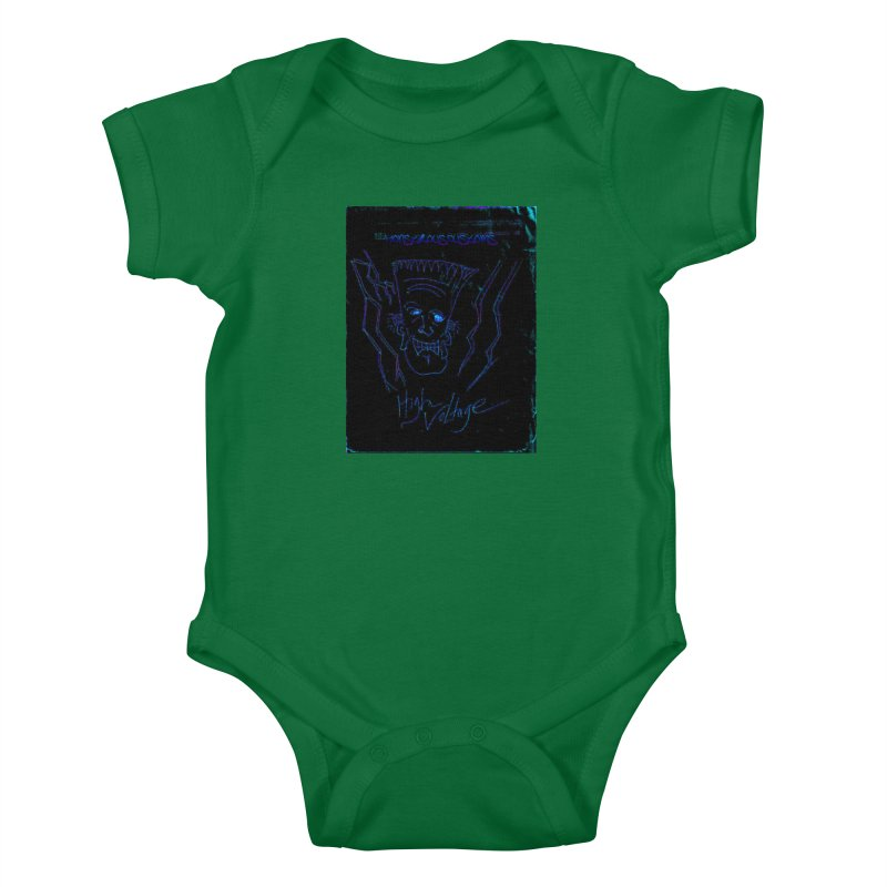 High Voltage Frank2 Kids Baby Bodysuit by Monstrous Customs