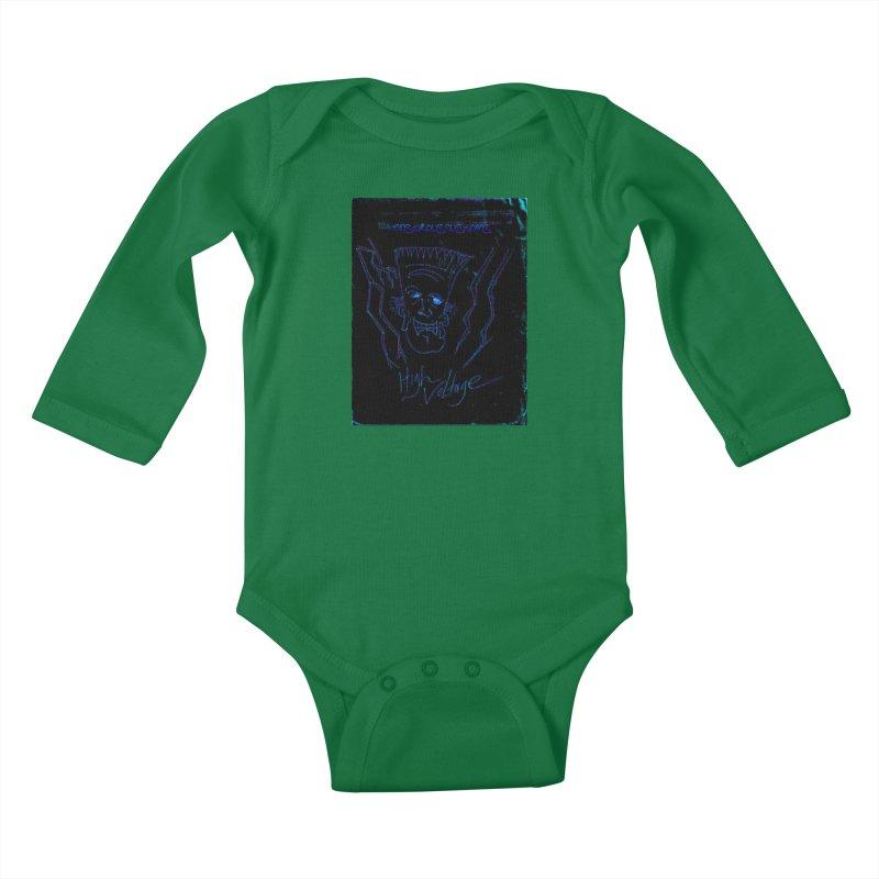 High Voltage Frank2 Kids Baby Longsleeve Bodysuit by Monstrous Customs