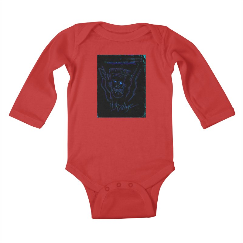 High Voltage Frank2 Kids Baby Longsleeve Bodysuit by Monstrous Customs