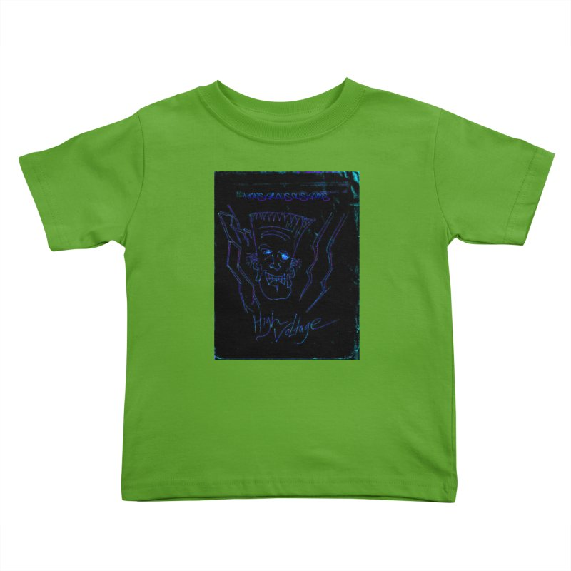 High Voltage Frank2 Kids Toddler T-Shirt by Monstrous Customs