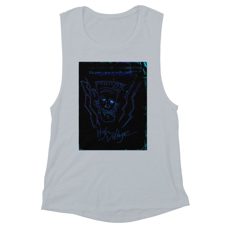 High Voltage Frank2 Women's Muscle Tank by Monstrous Customs