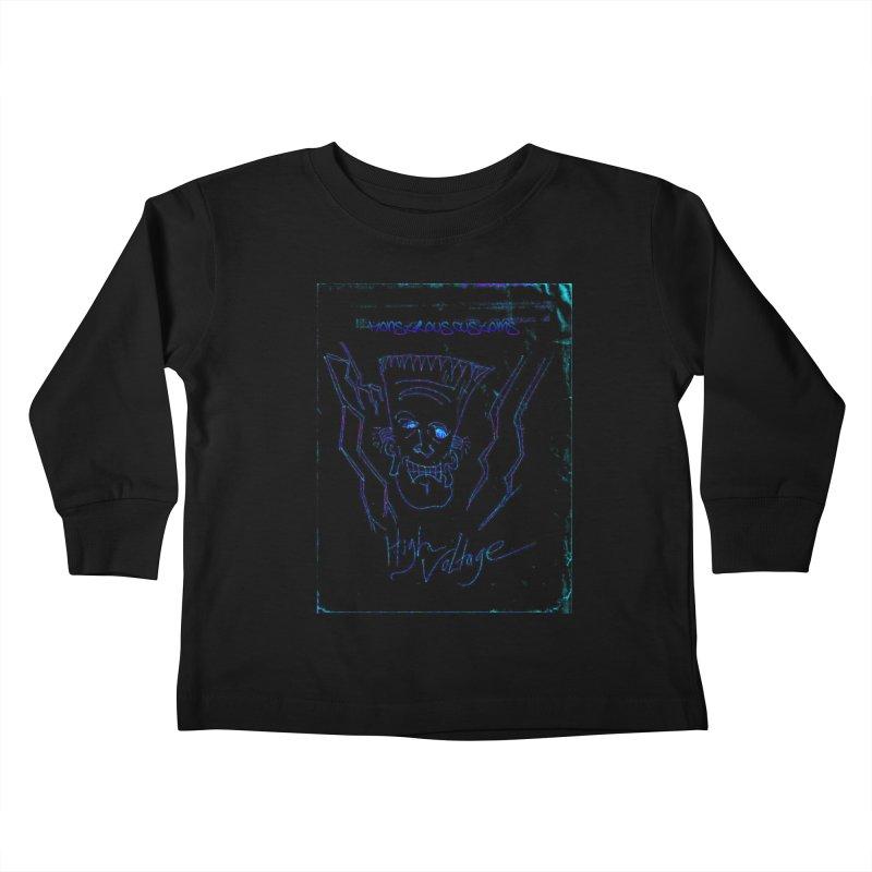 High Voltage Frank2 Kids Toddler Longsleeve T-Shirt by Monstrous Customs