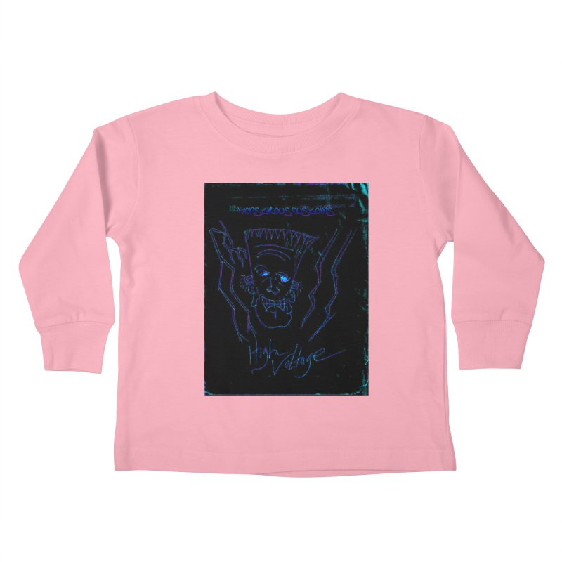 High Voltage Frank2 Kids Toddler Longsleeve T-Shirt by Monstrous Customs