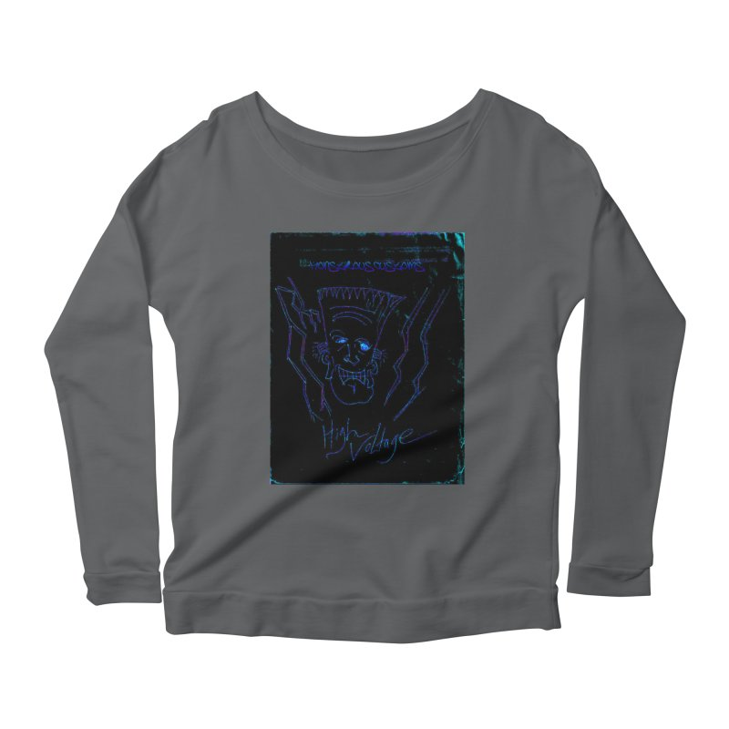 High Voltage Frank2 Women's Longsleeve Scoopneck  by Monstrous Customs