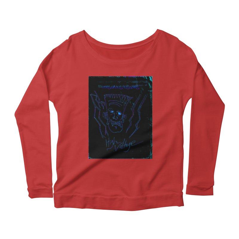 High Voltage Frank2 Women's Scoop Neck Longsleeve T-Shirt by Monstrous Customs
