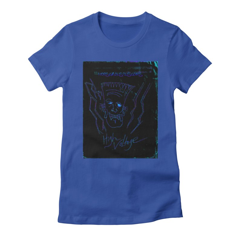 High Voltage Frank2 Women's Fitted T-Shirt by Monstrous Customs