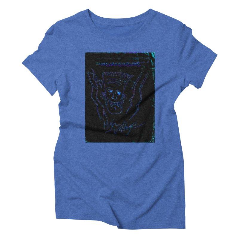 High Voltage Frank2 Women's Triblend T-Shirt by Monstrous Customs