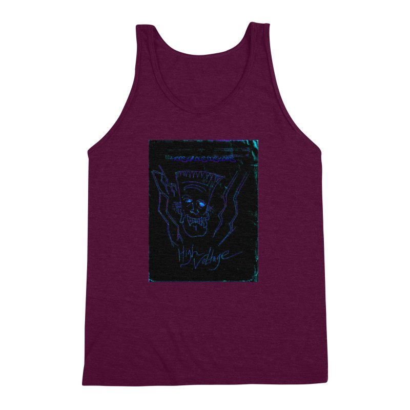 High Voltage Frank2 Men's Triblend Tank by Monstrous Customs