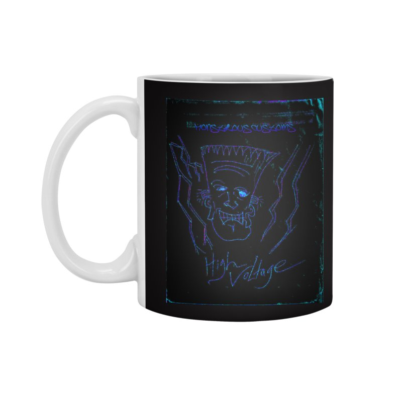 High Voltage Frank2 Accessories Standard Mug by Monstrous Customs